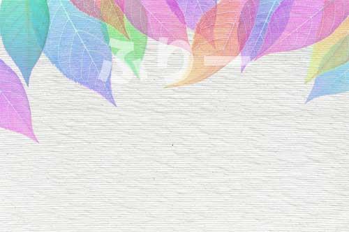 虹色の落ち葉のフレーム