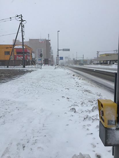 冬の手稲町