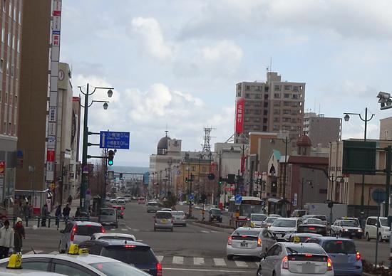 小樽駅前の風景