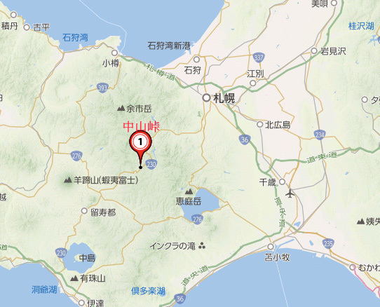 中山峠map