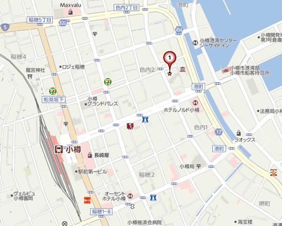 小樽手宮線跡の地図