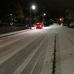 札幌は初雪!真っ白に。