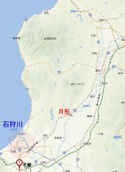 石狩川の地図