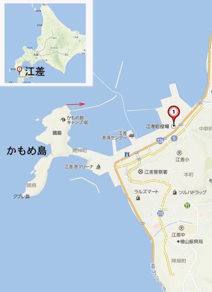 江差の地図