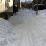 雪道の渋滞は駐車場の料金にハラハラ