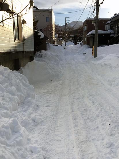 雪のザクザク道