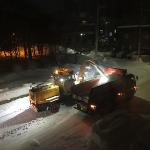 排雪作業はロータリー除雪車の職人ワザ