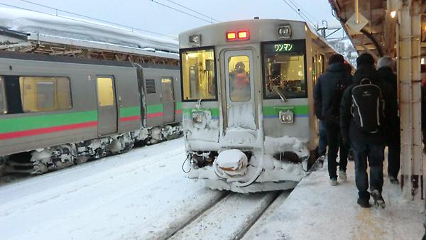 ニセコ行き列車