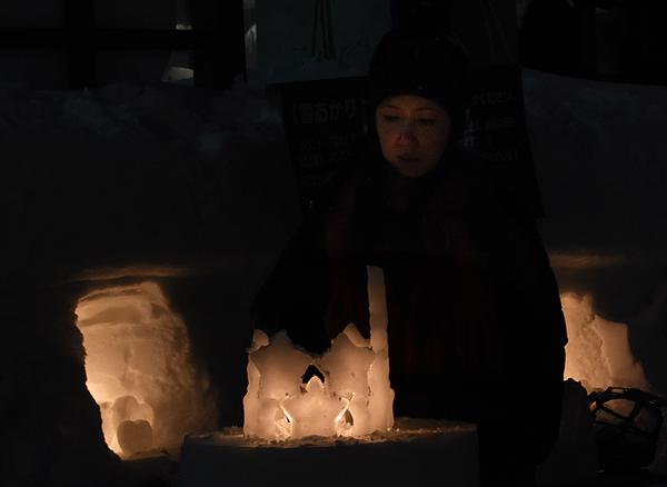 小樽雪明かりオブジェ