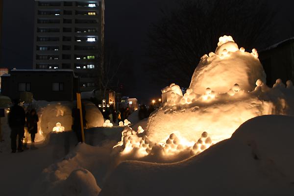 雪あかりオブジェ