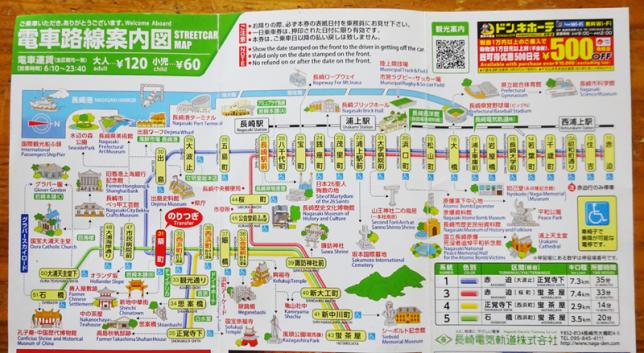 長崎市電 路線図