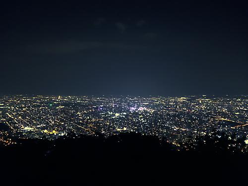 藻岩山から見た札幌の夜景