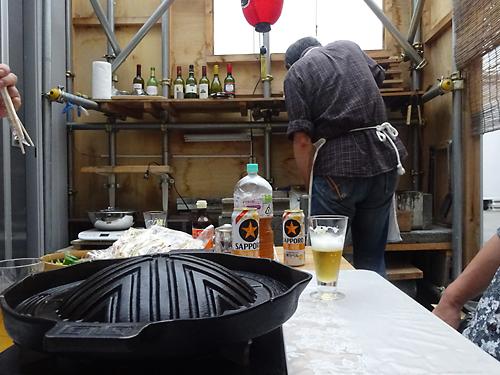 せいちゃんの手作りコーナーでジンギスカン