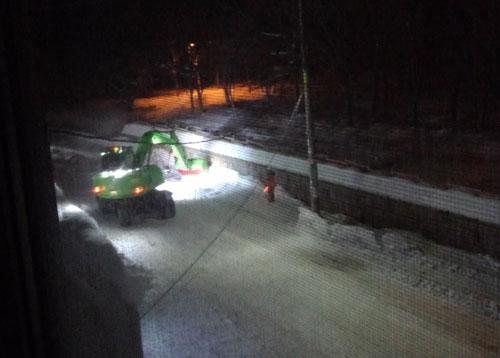 歩道の排雪