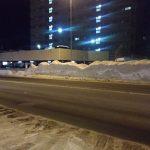 除雪あとの雪の層はマーブル