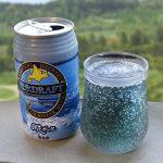 網走ビールの網走ドラフトは流氷を仕込み水に使った青い発泡酒