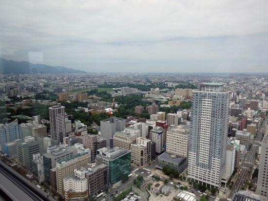 札幌JRタワー展望室から見た景色