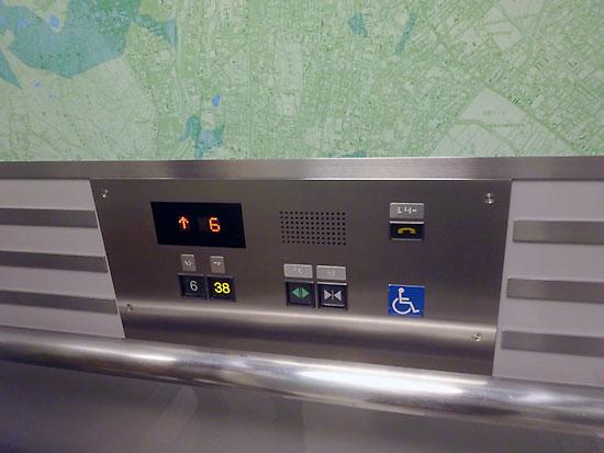 札幌JRタワー展望室 専用エレベーター