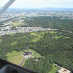 解体決定 空から見る北海道百年記念塔