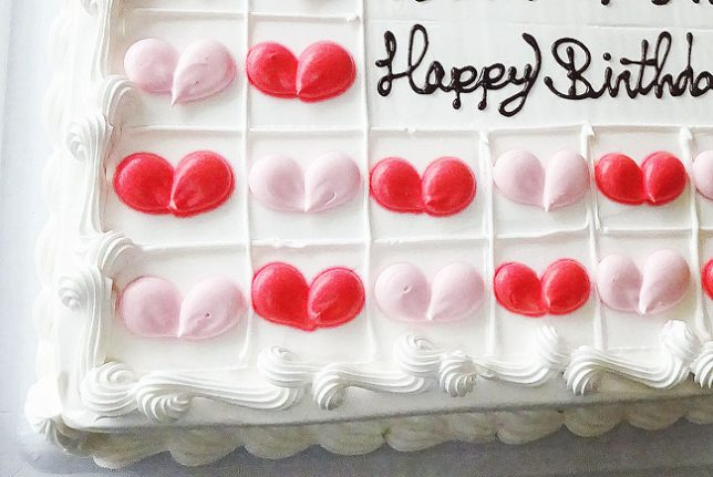 コストコのバースデイケーキ