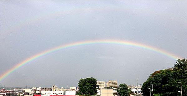 二重の虹の写真
