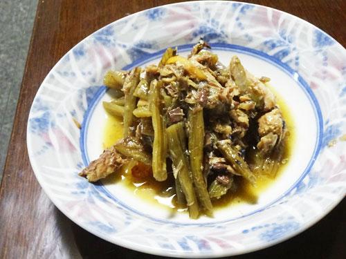 サバ缶詰の料理