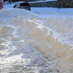 北海道らしくサラサラと雪の朝