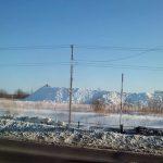 冬の札幌のあちこちに出現する山は雪捨て場