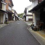 昔の街並み内子町の蔀戸(四国の旅6)