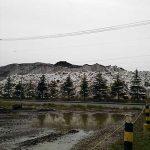 雪捨て場の山も解体